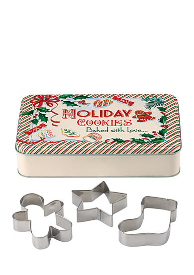 Lenox® Home for the Holidays Rectangular Tin & 3 Cookie Cutters