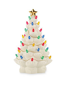 Lenox Star Topped Lighted Tree Figurine