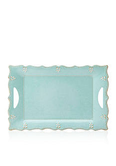 Lenox French Perle Aqua Melamine Platter