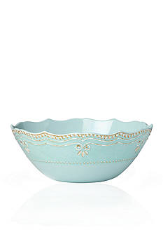 Lenox French Perle Aqua Melamine Serving Bowl