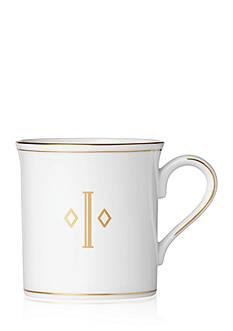 Lenox Federal Gold Monogram Block I Mug