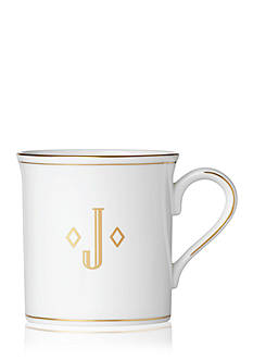 Lenox Federal Gold Monogram Block J Mug