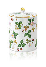 Wild Strawberry Tea Caddy 5.5-in. H