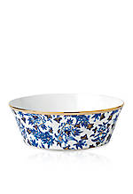 Hibiscus Oval Serving Bowl 13-in.