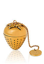 Wild Strawberry Metal Tea Infuser 1.3-in. H