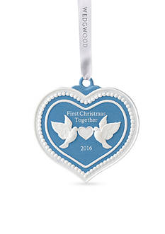 Wedgwood 2016 Our First Christmas Blue Ornament