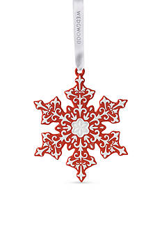 Wedgwood 2016 Snowflake Red Ornament