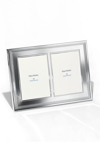 Vera Wang Grosgrain Invitation Double 5x7 Frame