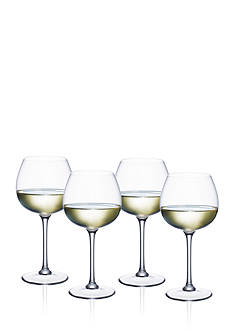 Villeroy & Boch Purismo Set of 4 Soft & Rounded White Wine Goblets