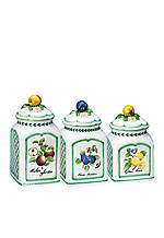 French Garden Set of 3 Canisters