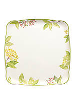 Green Garland Square Platter