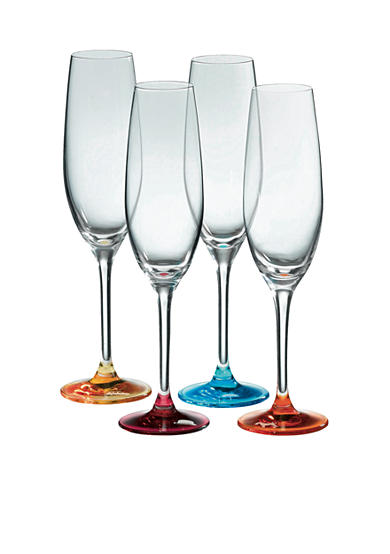 Royal Doulton Set of 4 Assorted Color Flutes