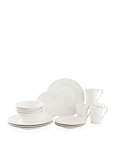 Maxwell & Williams 16-Piece White Basics Cirque Flared Dinner Set