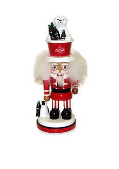 Kurt S. Adler Coca-Cola Hollywood Nutcracker With Polar Bear Hat