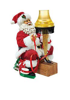 Kurt S. Adler Santa with Leg Lamp Light-Up Tablepiece