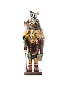 Kurt S. Adler Hollywood Woodsman Nutcracker With Owl Hat