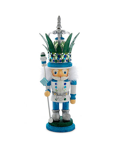 Kurt S. Adler Hollywood White, Blue, And Green Nutcracker