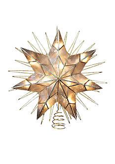 Kurt S. Adler 7-Point Natural Capiz Star Lighted Treetop