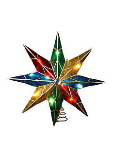 Kurt S. Adler 8-Point Star With Center Gem Treetop