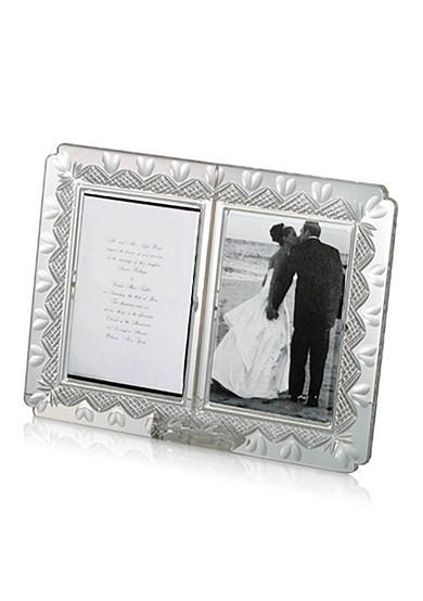 Waterford Wedding Anniversary Double 4x6 Frame
