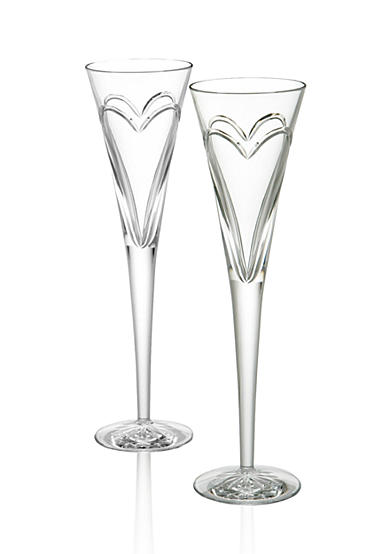 Waterford Wishes Love & Romance Toasting Flute Pair