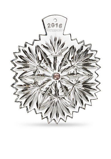 Waterford Crystal 2016 Snowflake Wishes Serenity Ornament with Lavender Jewels