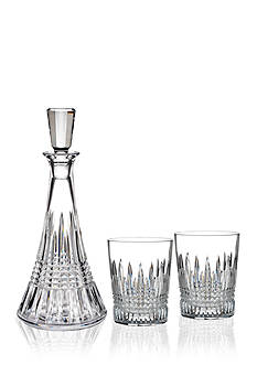 Waterford Lismore Diamond Decanter & Double Old Fashion Pair