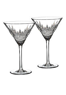 Waterford Lismore Diamond Martini Glass Pair