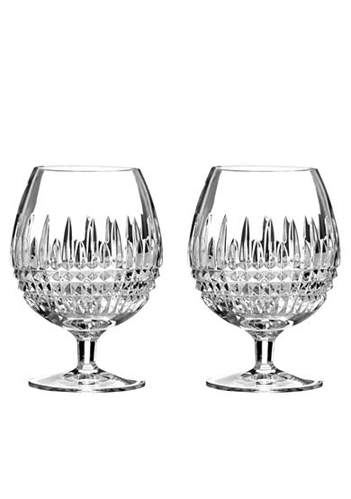 Waterford Lismore Diamond Brandy Glasses Pair