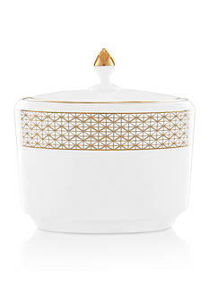 Waterford Lismore Diamond Gold Sugar Bowl