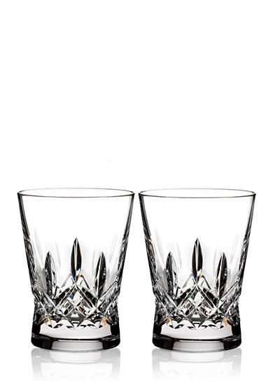 Waterford Crystal Lismore Pops Clear Double Old Fashion, Set of 2