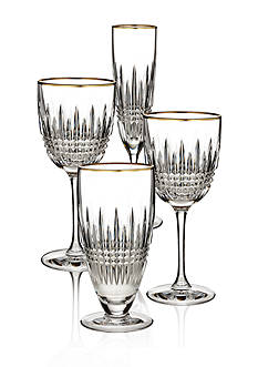Waterford Lismore Diamond Gold Stemware Collection