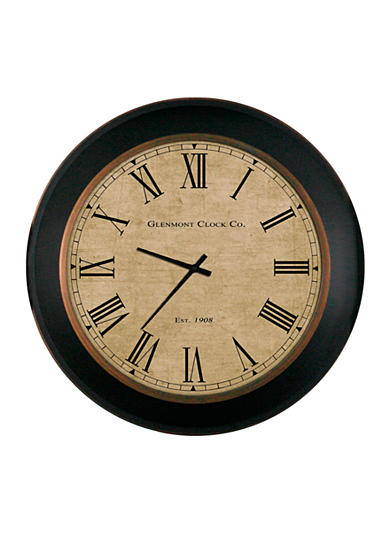 Patton Picture 24-in. Brown Roman Numeral Glemont Clock