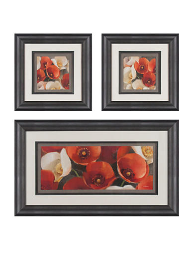 Patton Picture 3-piece Poppies In Bloom Art Set - Online Only