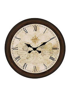 Patton Picture 30-in. Map Clock