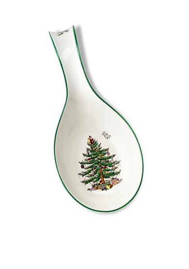 Spode Christmas Tree Spoon Rest 12-in.