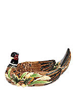 Woodland Harvest Pheasant Candy Dish 9-in.