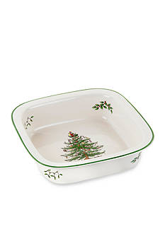 Spode Christmas Tree Square Rim Baker 10-in.