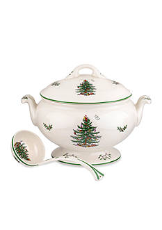 Spode Christmas Tree 75th Anniversary Footed Tureen & Ladle