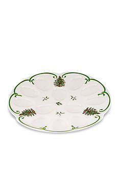 Spode Christmas Tree Devilled Egg Dish