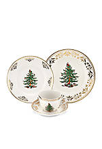 Christmas Tree Gold 4-Piece Place Setting