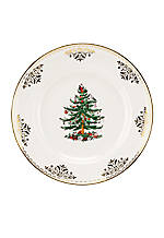 Christmas Tree Gold Collection Salad Plate 8-in.