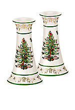 Christmas Tree Gold Collection Set of 2 Candlesticks