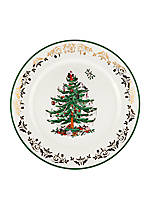 Christmas Tree Gold Collection Round Platter 12-in.