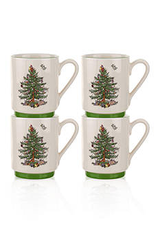 Royal Worcester Spode Stacking Mugs, Set of 4