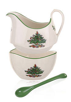 Royal Worcester Spode Stacking Sugar & Creamer w/ Ceramic Spoon