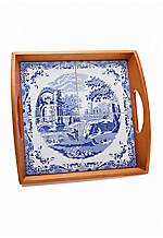 Blue Italian Tile Tray