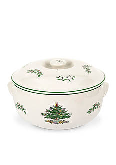 Spode Christmas Tree Round Covered Casserole 2.5-qt.
