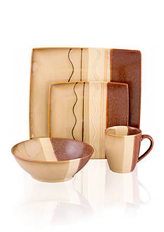 Sango Zanzibar Brown 16-Piece Set - Online Only