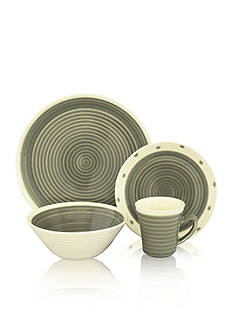 Sango Rico Gray 16-Piece Dinnerware Set